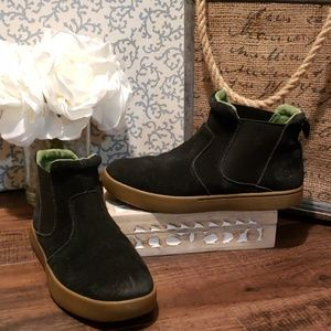 UGG BLACK SUEDE PULL ON BOOTIES